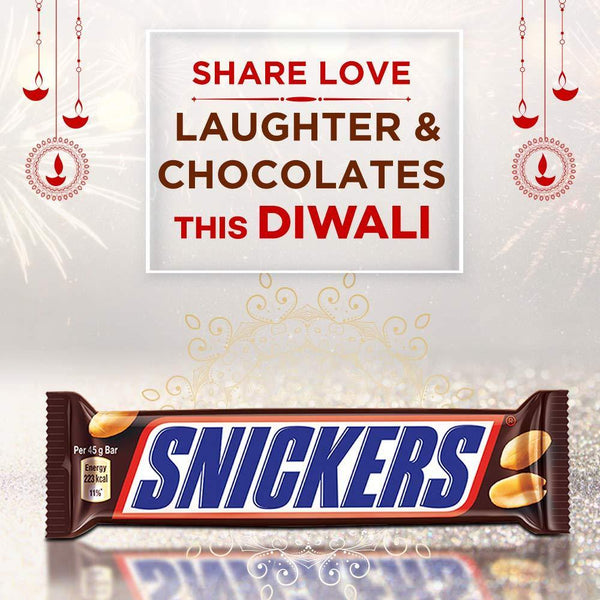 Snickers Peanut Filled Chocolates Diwali Gift Pack- 50g Bar (Pack of 12)-Krave Bites