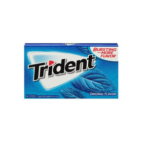Trident Sugar Free Chewing Gum Original Flavor, 14 Sticks, 26 g
