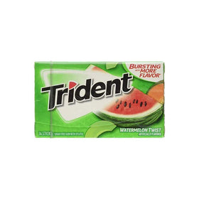 Trident Sugar Free Chewing Gum Watermelon Twist, 14 Sticks, 26 g