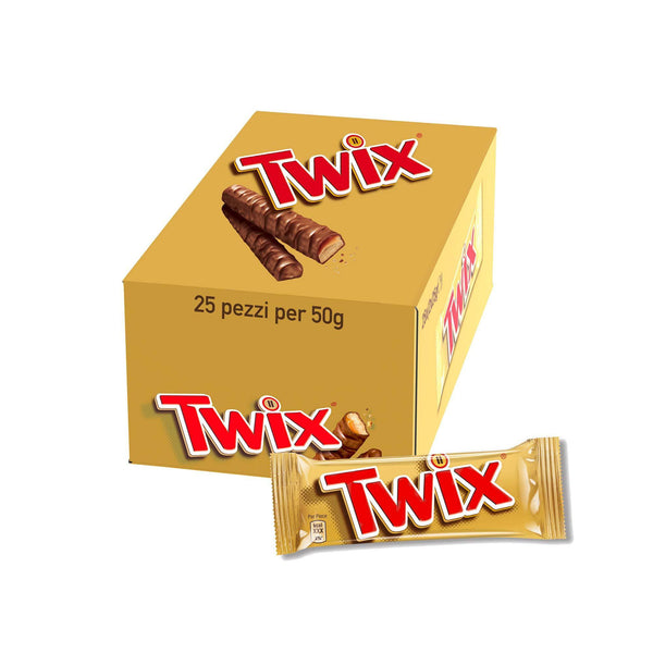 Twix 25 Pcs Chocolate Bars (1250 g)-Krave Bites