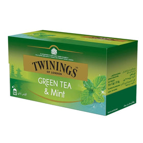 Twinings Green Tea & Mint, 25 Tea Bags (Imported)