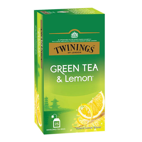 Twinings Green Tea & Lemon, 25 Teabags - Krave Bites