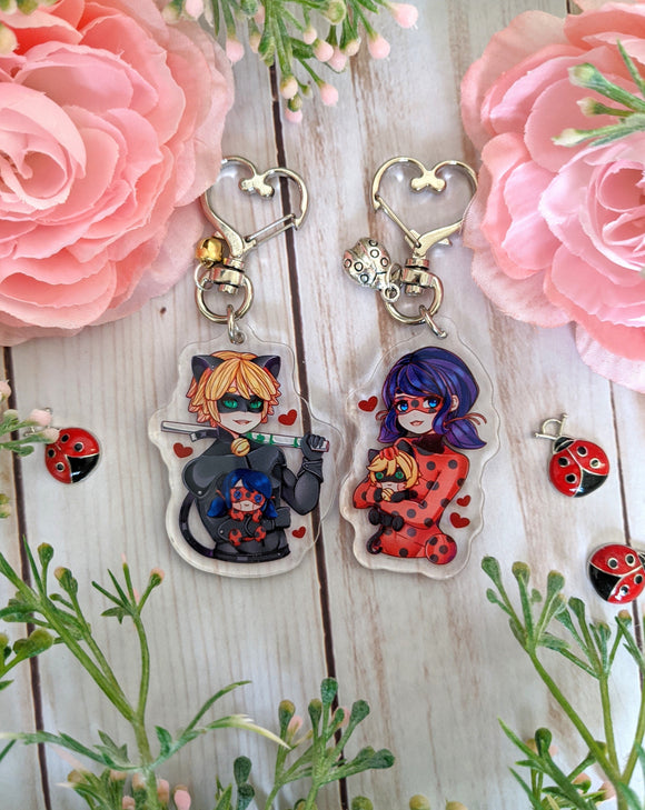 Crime Fighting Duo - Plushie Love Acrylic Charms - Cinnitea