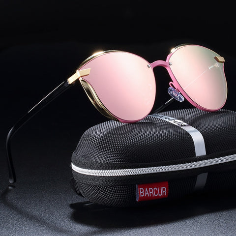 Luxury Polarized Women Round Sunglasses - Eyelaado
