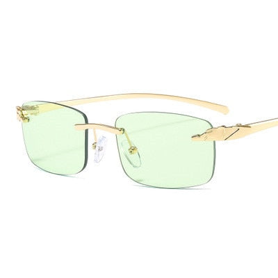 Classical Rectangle Alloy Metal Glasses - Eyelaado