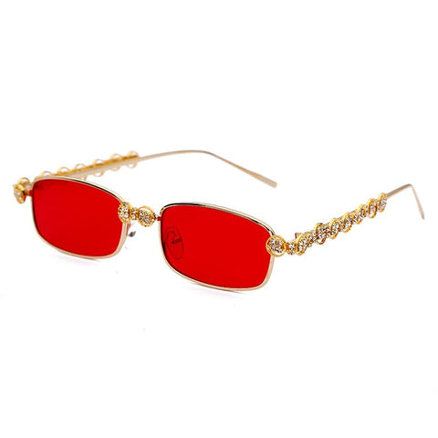 Crystal Vintage Rectangle Women Sunglasses - Eyelaado