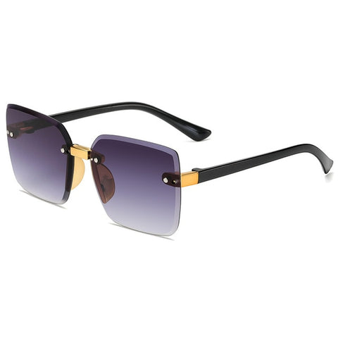 Crystal Square Rimless Sunglasses - Eyelaado