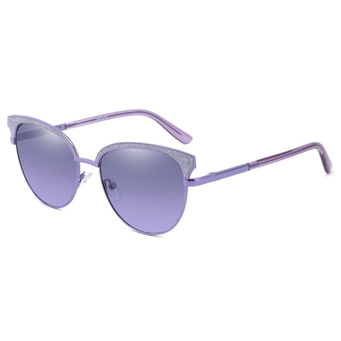 Luxury Cateye Anti UV Metal Women Sunglasses - Eyelaado