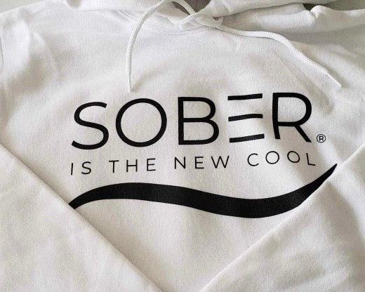 Sober Is The New Cool Logo Hoodie (WHITE)