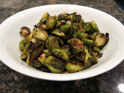 Roasted Brussels Sprouts with a Honey-Dijon Sauce