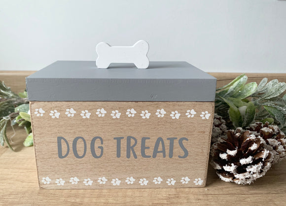 Wooden Dog Treat Box