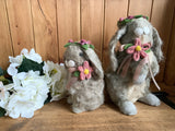 Spring Floral Bunnies- Small or Large