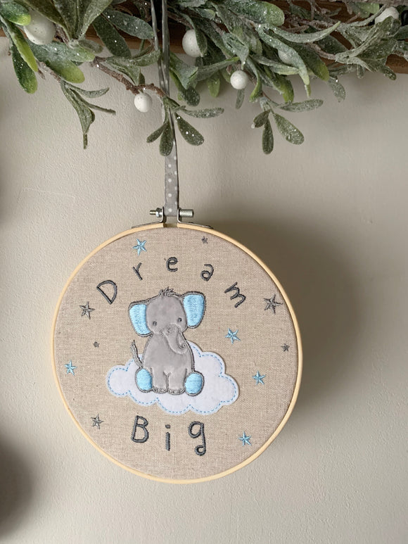 Dream Big Hoop - Pink or Blue