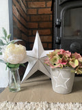 Grey Planter with Star Detail