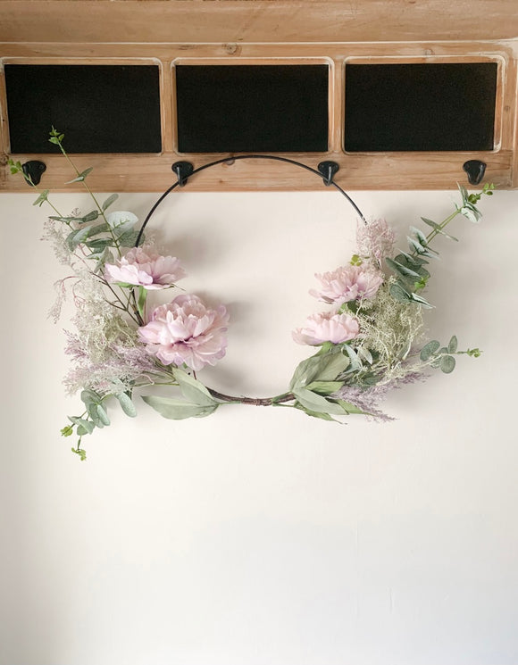 Purple Floral Hoop
