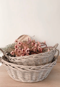 Round Wicker Baskets (Set of 2)