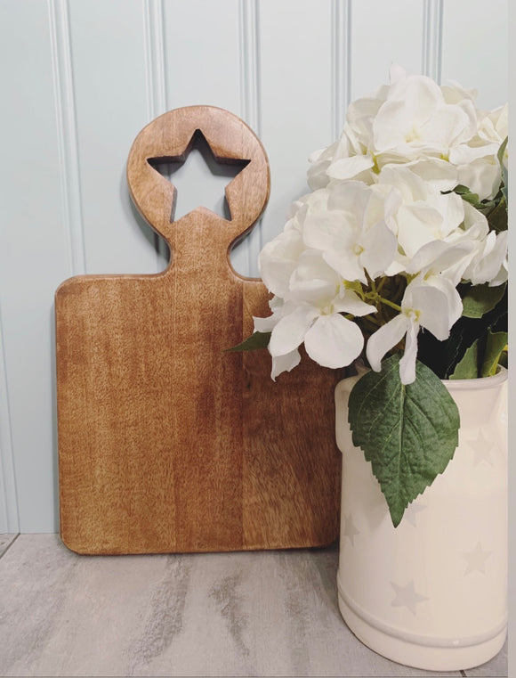 Small Star Handle Chopping Board