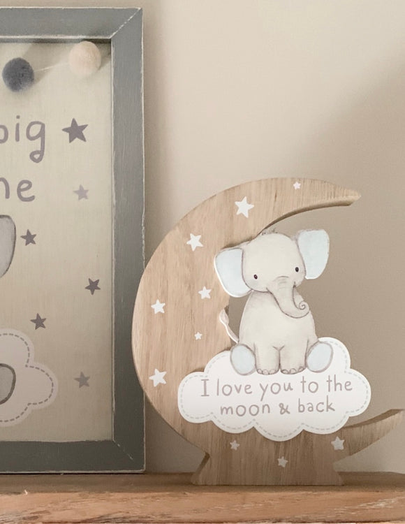 To the moon and back block - Pink or blue