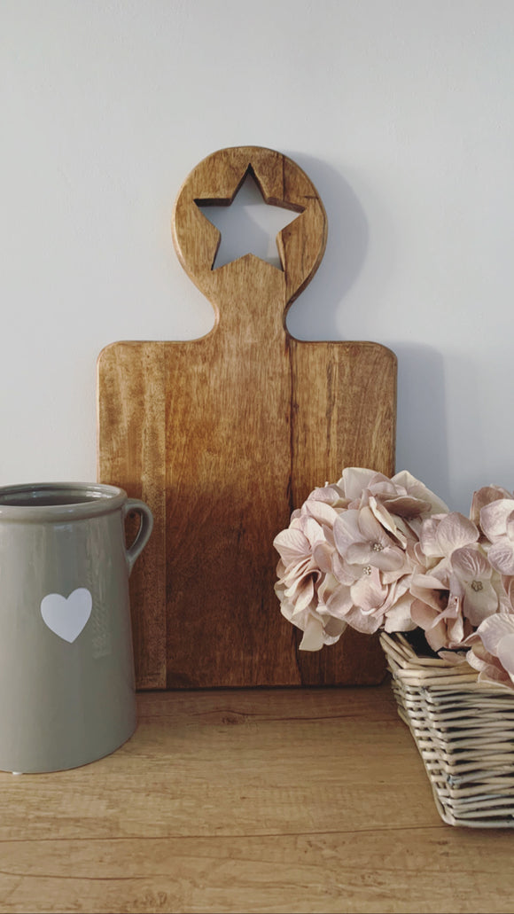 Large Star Handle Chopping Board