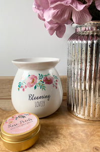 Blooming Lovely Wax Melt Burner With Melts
