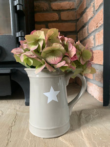 Grey Jug with White Star