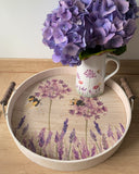 Lavender and Bee Large Tray