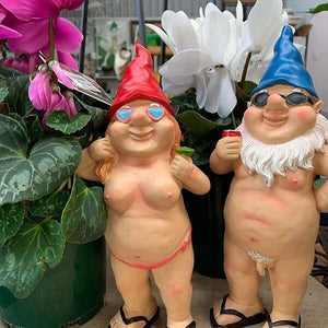 😍Funny Garden Gnome Couple-Art decoration👩‍❤️‍💋‍👨