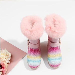 🦄Rainbow Snow Boots--Plus Velvet