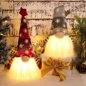 Handmade Christmas Gnome Tomte with Light