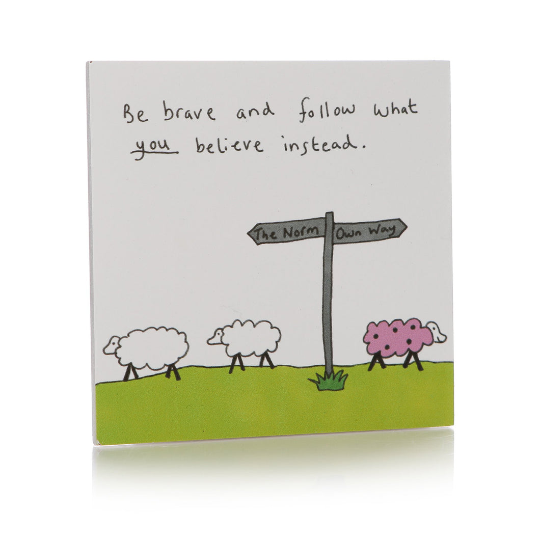 May The Thoughts Be With You Coaster - Sheep