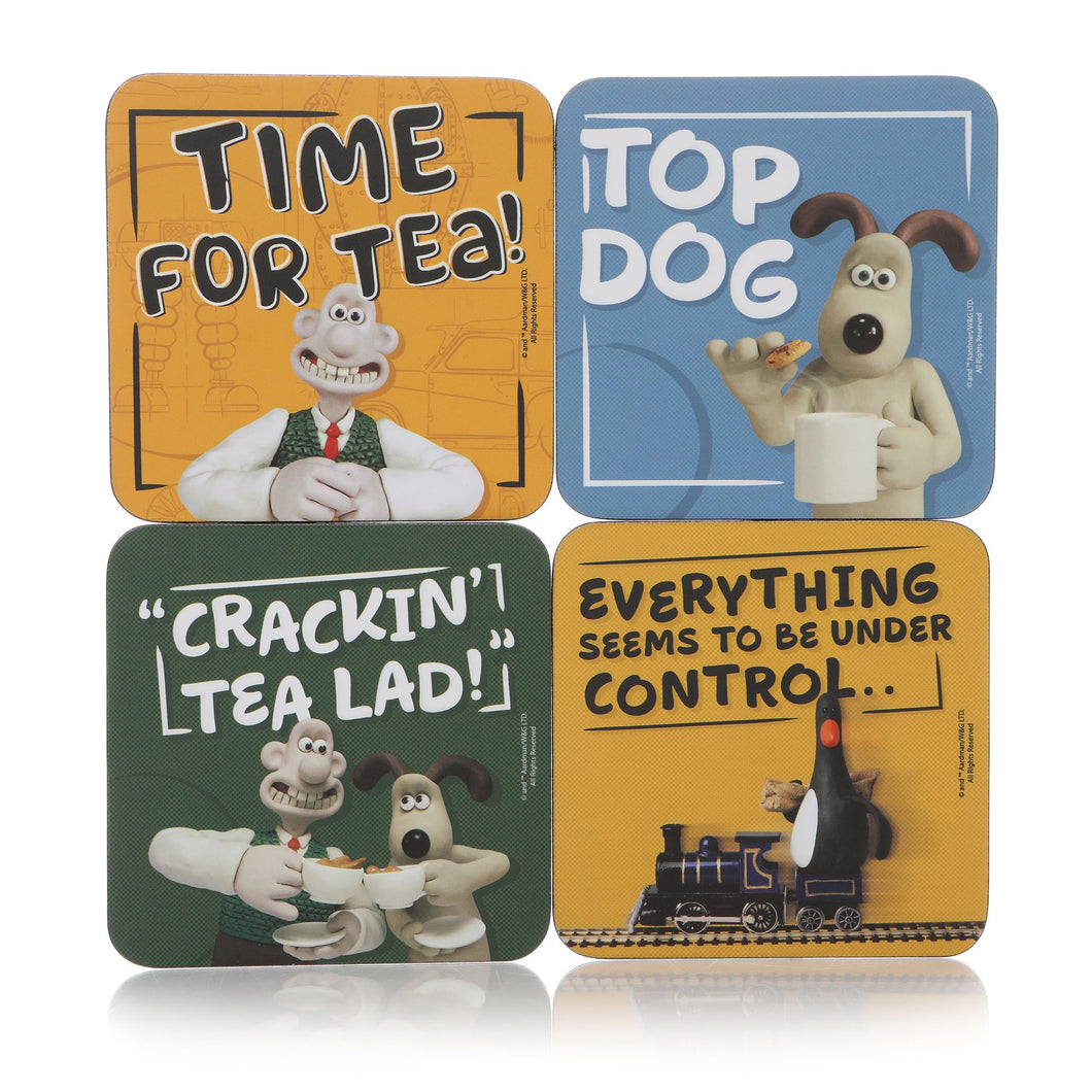 Aardman Wallace and Gromit Set of 4 Coasters