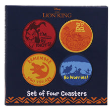 Load image into Gallery viewer, The Lion King Set of 4 Coasters