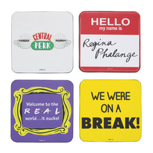 Load image into Gallery viewer, Friends Set of 4 Coasters - Quotes
