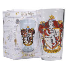 Load image into Gallery viewer, Harry Potter Glass - Gryffindor Crest
