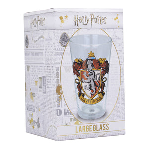 Harry Potter Glass - Gryffindor Crest