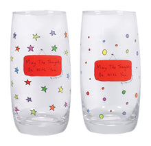 Load image into Gallery viewer, May The Thoughts Be With You Set of 2 Glasses - Assorted