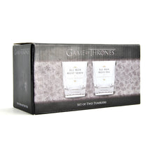 Load image into Gallery viewer, Game of Thrones Set of 2 Glass Tumblers - All Men
