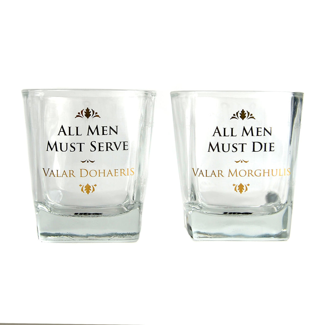 Game of Thrones Set of 2 Glass Tumblers - All Men