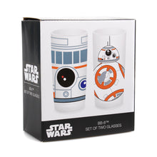 Load image into Gallery viewer, Star Wars Set of 2 Glasses - BB-8