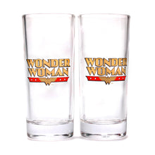 Load image into Gallery viewer, Wonder Woman Set of 2 Glasses - Stars