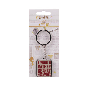 Harry Potter Keyring - Rather Be At Hogwarts