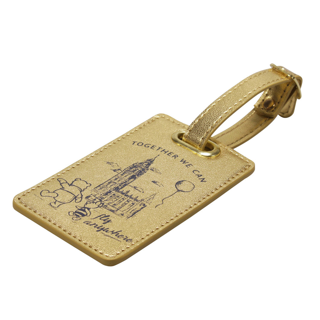 Winnie the Pooh Luggage Tag - Fly Anywhere