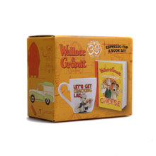 Load image into Gallery viewer, Wallace & Gromit: Little Book of Cheese Mini Book & Espresso Cup Gift Set