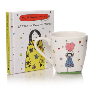 May The Thoughts Be With You - Little Journal of Truth & Espresso Cup Gift Set