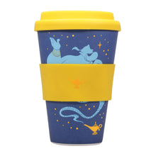 Load image into Gallery viewer, Aladdin Bamboo Travel Mug - Genie (Wrong Side of the Lamp)