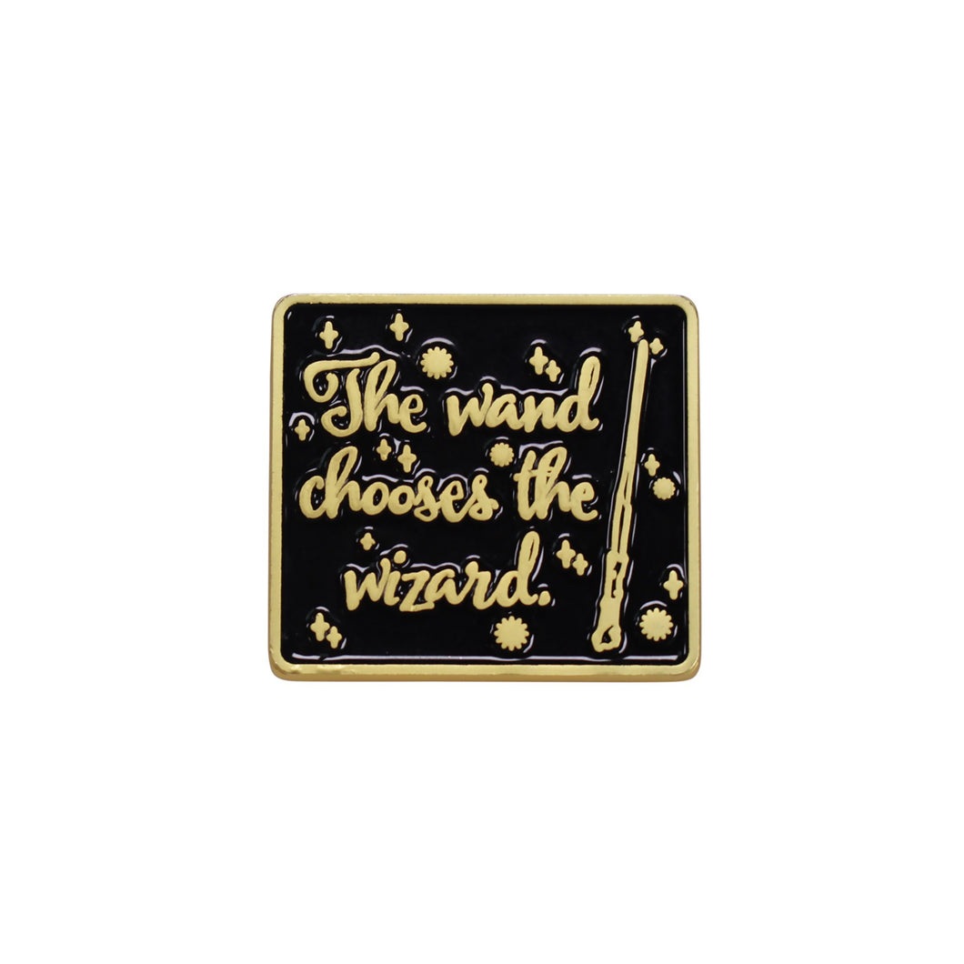 Harry Potter Pin Badge - Wand chooses the Wizard