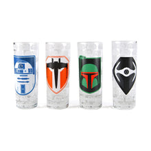 Load image into Gallery viewer, Star Wars Set of 4 Mini Glasses - Icons