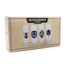 Load image into Gallery viewer, Warhammer 40,000 Set of 4 Mini Glasses
