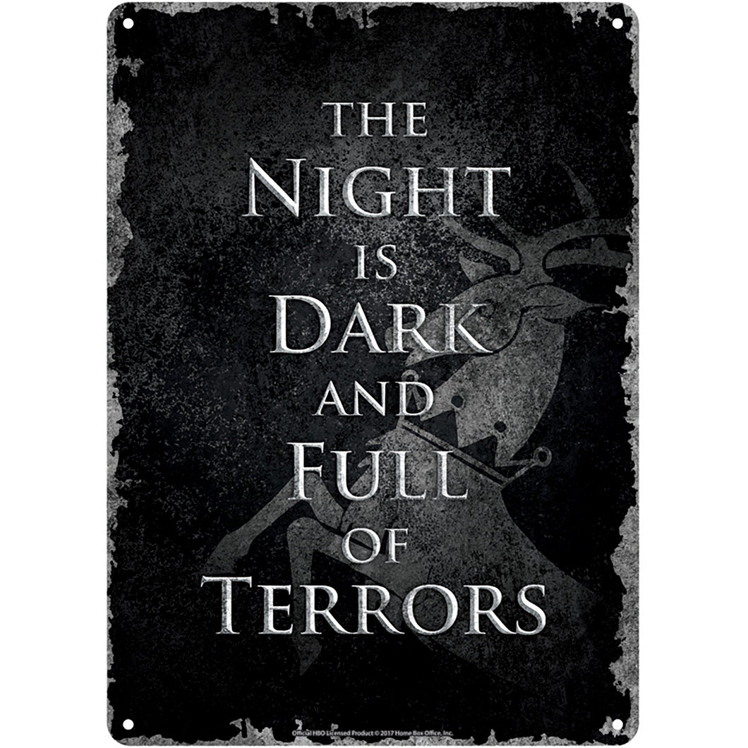 Game of Thrones Tin Sign - The Night Is Dark