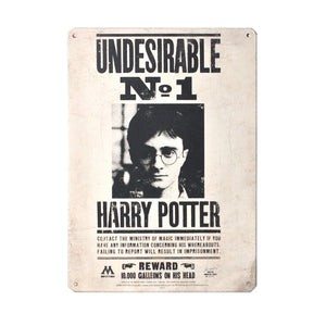 Harry Potter Tin Sign - Undesirable No. 1